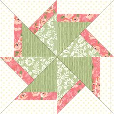 Free paper pieced quilt block by Debra Clutter
