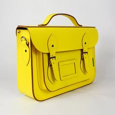 zhannice cambridge satchel  the batchel 14 inch yellow bags. $65.99 #obsessed #yellow #Spring