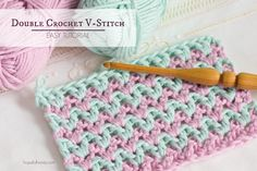 How To: Crochet The Double Crochet V Stitch - Easy Tutorial by Hopeful Honey