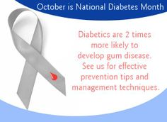 Diabetics are two times more likely to develop gum disease.                                                                  #SmileOasis.com
