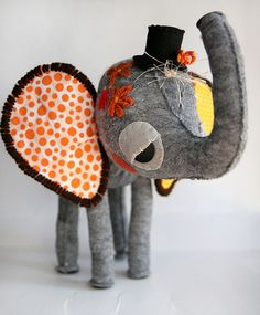 New Elephant by Skunkboy Creatures., via Flickr