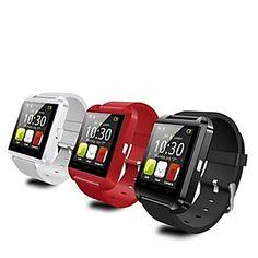Tecnologia+Vestível+-+Relógio+inteligente+Bluetooth+3.0+-+Chamadas+com+Mão+Livre+/+Controle+de+Mensagens+/+Controle+de+Câmera+-Monitor+de+–+BRL+R$+72,35