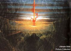 Exodus 13 Bible Pictures: Pillar of fire by night