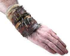 Steampunk Cuff Brown GEAR CHAOS Post Apocalyptic by edmdesigns, $155.00