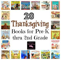 20 Thanksgiving books for kids in Pre-K thru 2nd Grade