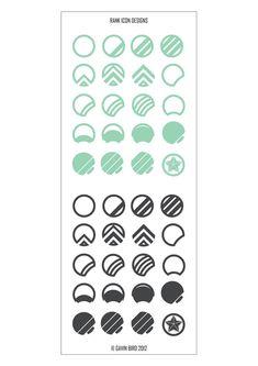 Rank Icons, Gavin Bird on ArtStation at https://www.artstation.com/artwork/rank-icons