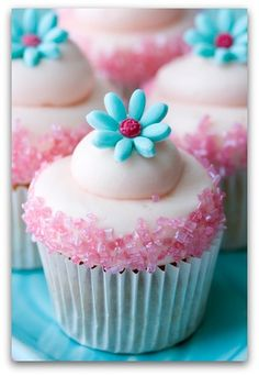 Cupcakes for a girl party