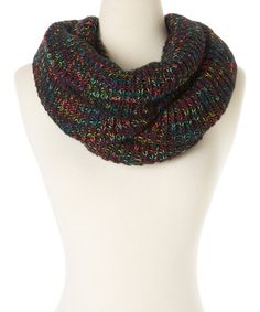 Look what I found on #zulily! Black Light Bright Knit Infinity Scarf by Steve Madden #zulilyfinds