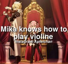 Anime Facts - Owari no Seraph {Seraph of the End} || this solidifies Mika as my fave fave... We can play together!