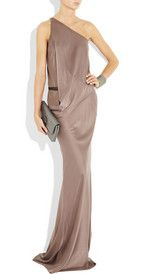 KAUFMANFRANCO  One-shoulder washed stretch-silk gown  £2,520