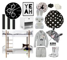 """Kids bedroom decor"" by thestyleartisan ❤ liked on Polyvore featuring interior, interiors, interior design, home, home decor, interior decorating, Dot & Bo, KIDORABLE, Spot on Square and H&M"