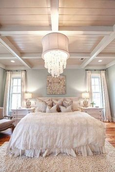 Bedroom, Bedroom Lighting Options : bedroom lighting for master bedroom - Pretty and a little rustic with the ceiling