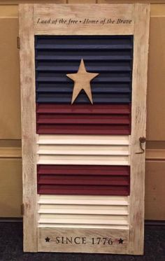 Painting Shutters, Flag Painting, Diy Shutters, Patriotic Room, Patriotic Crafts, Fourth Of July Decor, 4th Of July Decorations, July 4th, Shutter Projects