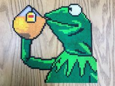 Perler Kermit the Frog -That's none of my business! By Slimer530