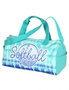 Tie Dye Softball Duffle Memes Bags Clothes Things