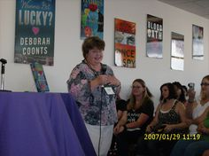Our second time, meeting and seeing Charlaine Harris.
