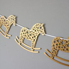 Laser Cut Rocking Horse Bunting by mrYen on Etsy