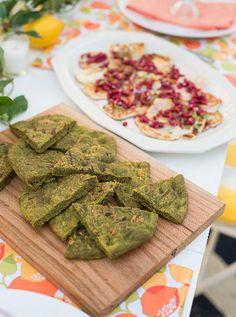 LP Summer Guide 2015- Spinach & Garlic Flatbreads Recipe