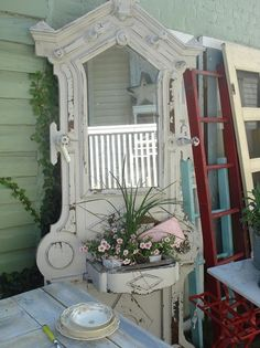 It's a Vintage Life-cool use for an outdoor piece!
