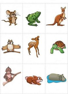 dieren - Wild animals printable for poster or game cards Learning English For Kids, Kids English, English Language Learning, English Lessons, Learn English, Kids Learning, Animal Pictures For Kids, Animals For Kids, Wild Animals