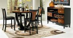 Max Furniture 5pc Boyer Pub Dining Room Set With its distinctive look and deep finish, the Boyer dining room collection is an elegant choice. It features a casual, contemporary appearance that is well-built and designed to last for years.  http://www.maxfurniture.com/detail-Dining-PubBar-5pc-Boyer-Pub-Dining-Room-Set-24-43397.aspx