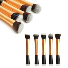 Makeup Hot Sale Gujhui Silver Cosmetic Flat Foundation Face Blush Kabuki Powder Contour Makeup Brush Tool Hottest