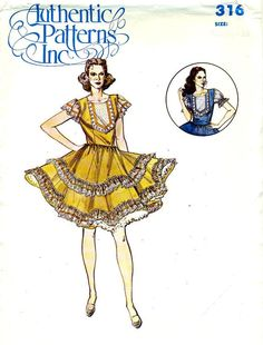 AUTHENTIC PATTERNS 316 - Square Dance Dress