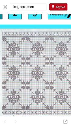 Alinti Rubi Nosto Cross Stitch Cards, Cross Stitch Borders, Cross Stitch Designs, Cross Stitching, Cross Stitch Patterns, Crochet Bedspread Pattern, Crochet Curtains, Crochet Flower Patterns, Doily Patterns