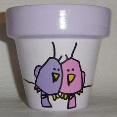 Macetas Pintadas a Mano Flower Pot Art, Flower Pot Crafts, Clay Pot Crafts, Flower Pot People, Clay Pot People, Painted Plant Pots, Painted Flower Pots, Pot Jardin, Country Paintings