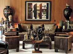 Yves Saint Laurent's Paris Apartment - The eclectic mix of furniture in this room is fabulous!
