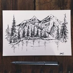 steelbison: Super quick scribbles to stay loose. #art #mountains