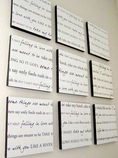 #DIY Lyric Wall Decor