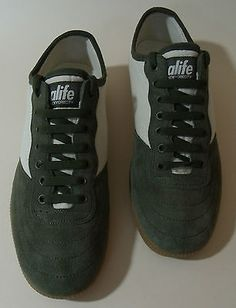 Alife #shoes kenor uk 7 rare skate #trainers skateboard green & #beige a life,  View more on the LINK: 	http://www.zeppy.io/product/gb/2/252427120940/