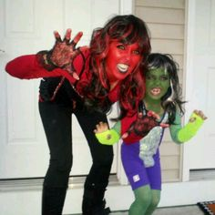 My daughter wanted to be Avengers-she hulk n red she hulk...2012