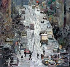Peintures Aquarelle de John Salminen de paysages urbains