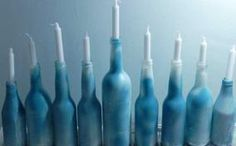 Upcycled Glass Menorah Hanukkah Craft #diy #repurpose