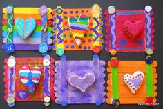 Art project idea- Jim Dine inspired Hearts in sculptural form. Could work very well for Kandinsky Circles!