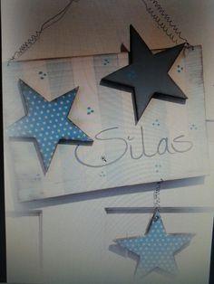 Türschild Kinderzimmer mit Sternen