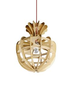 Wooden Shade Mushroom Pendant Ceiling Lighting