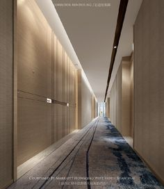 Corridor - Home Decor Designs Trends Hotel Hallway, Hotel Corridor, Hotel Lobby Design, Corporate Interiors, Hotel Interiors, Corridor Lighting, Halls, Plafond Design, Luxury Office
