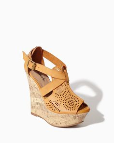 charming charlie | Farryn Laser-Cut Wedges | #charmingcharlie. I love this store. Shoes, purse, clothing, & accessories.