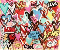 Original Graffiti Painting by Mercedes Lagunas Graffiti Art, Pintura Graffiti, Graffiti Painting, Heart Graffiti, Love Graffiti, Street Graffiti, Photo Wall Collage, Collage Art, Love Collage