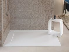 Flush fitting DuraSolid shower tray P3 Comforts Collection by DURAVIT Italia | design Phoenix Design