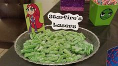 Teen titans go party. Candy table