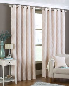 Arch Ready Made Eyelet Curtains In Natural From £67.99