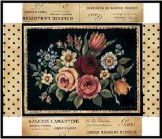 Boite rectangulaire bouquet de fleurs création Pascale Appiani