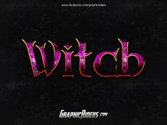 GraphicRiders   Fantasy style – Witch (free photoshop layer style - text effect)