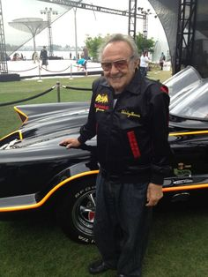 Batmobile‬ creator George Barris next to his 1955 Ford Futura inside the ‪Comic-Con Batcave!