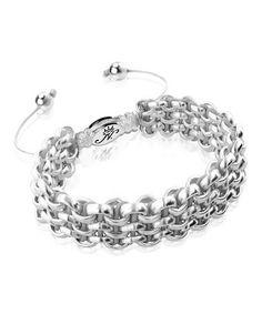 Look what I found on #zulily! Gray & Silvertone Kismet Links Bracelet #zulilyfinds