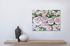 Gloss Paint, Artist Canvas, Etsy Store, Original Paintings, Layers, Roses, Tapestry, Free Shipping, Abstract